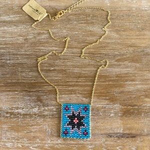 Natural Life Beaded Blue Star Necklace! ☀️